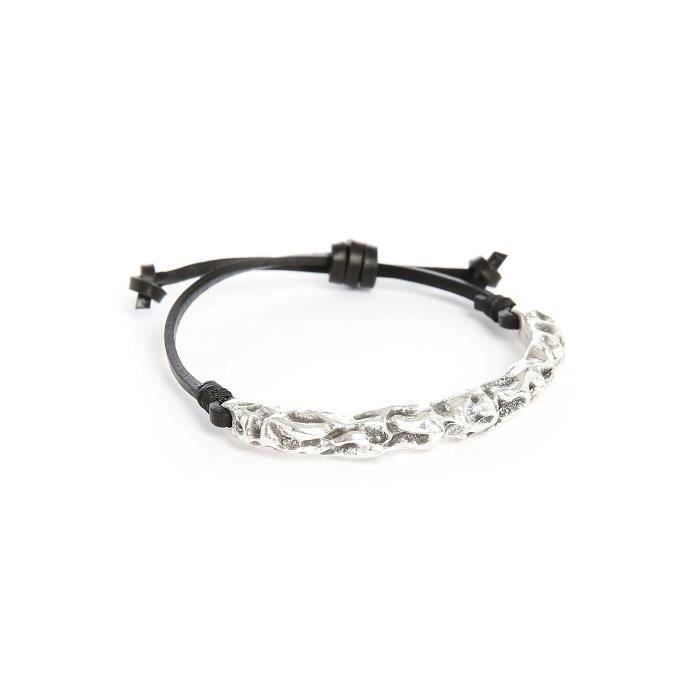 bracelet en corde noir azanky pour homme achat vente. Black Bedroom Furniture Sets. Home Design Ideas