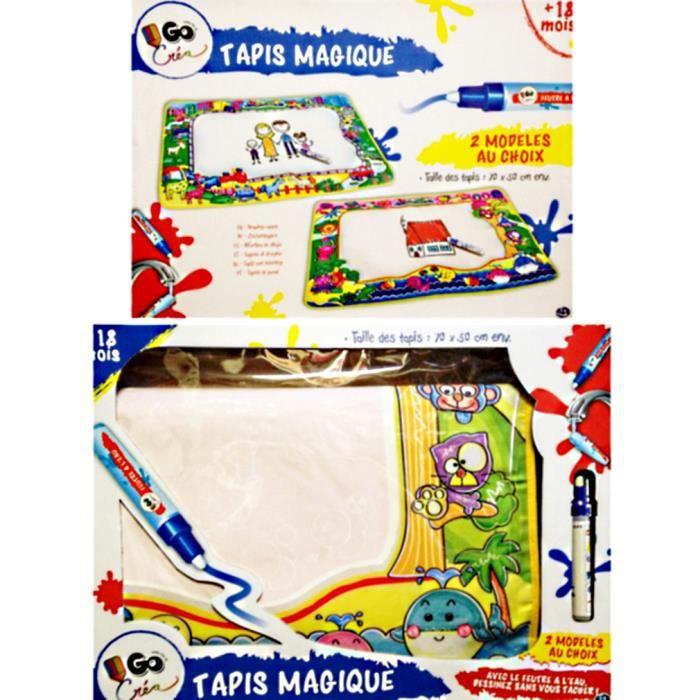 1 tapis de coloriage magique dessine dessus sans te tacher feutre a l eau achat vente table - Tapis coloriage ...