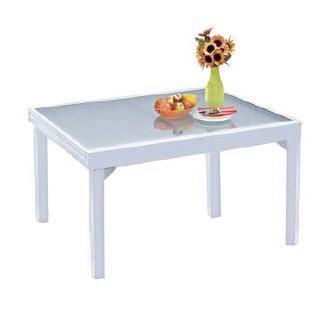 Table de jardin modulo 6 10 places blanche achat vente table de jardin table de jardin Table de jardin aluminium blanche