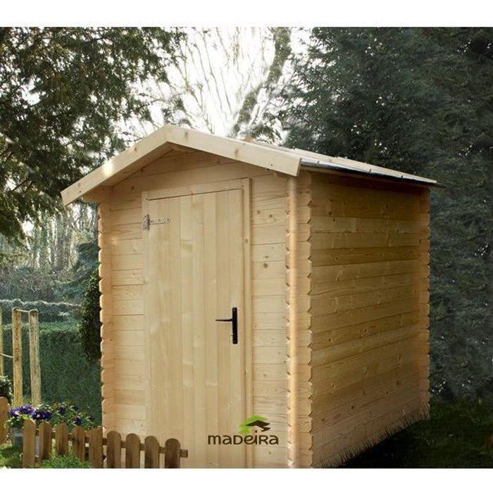 Abri de jardin bois brut emboit 3 17m achat vente for Achat abri de jardin