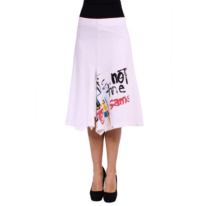 desigual jupe femme blanc achat vente jupe kilt. Black Bedroom Furniture Sets. Home Design Ideas