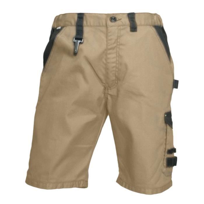 Bermuda de travail homme resistant beige fonte lma gris achat vente bermuda cdiscount - Short de travail homme ...