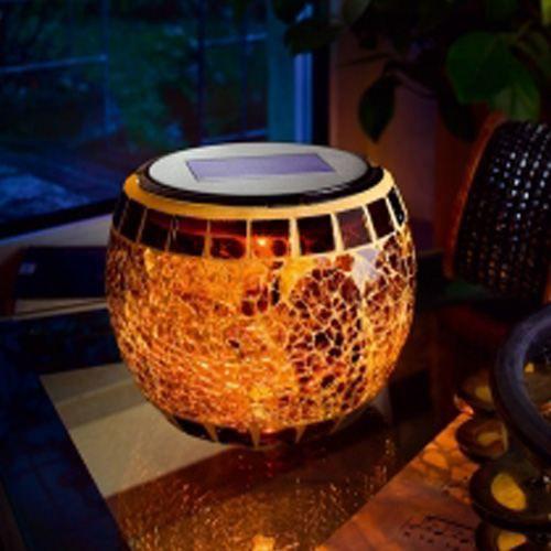 lampe solaire led mosaique brillante achat vente lampe. Black Bedroom Furniture Sets. Home Design Ideas