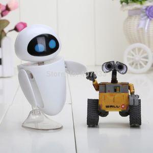 ACCESSOIRE MAQUETTE 2pcs/lot de 6cm Wall-E Robot Wall E & EVE PVC Acti
