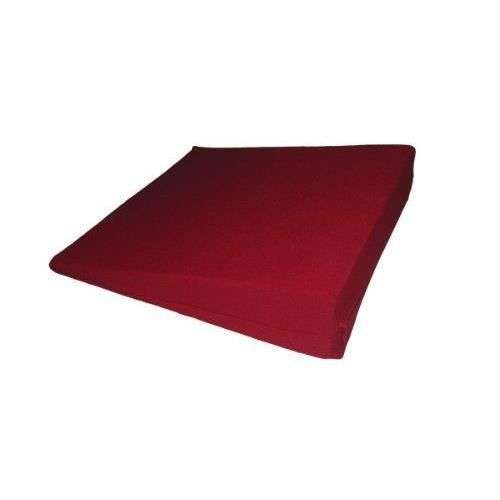 Coussin cale rouge taille l 38 x 38 x 7 1 cm achat - Taille coussin standard ...