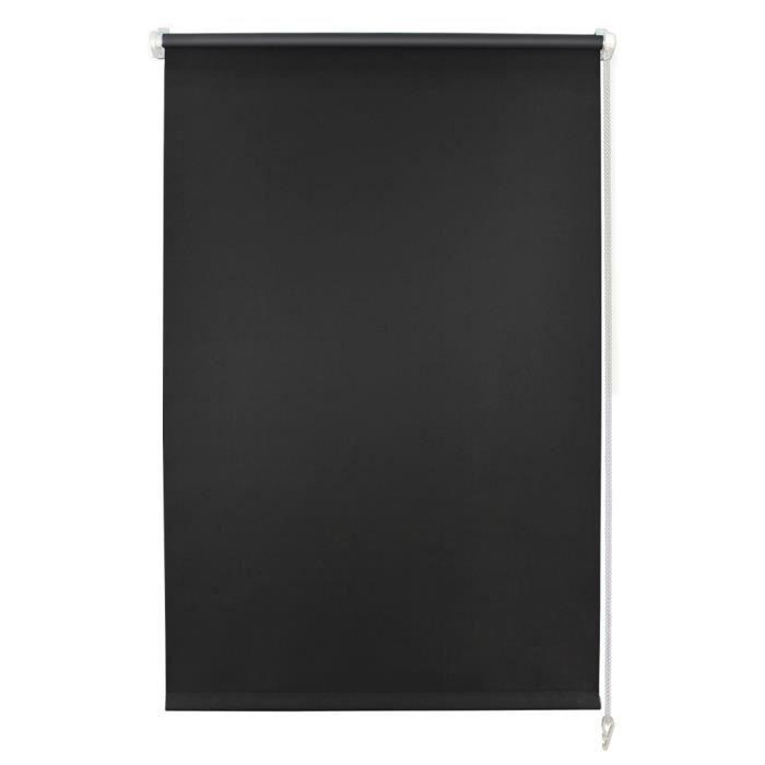 auralum 80 x 150cm stores enrouleurs avec rev tement thermique isolant noir rideaux. Black Bedroom Furniture Sets. Home Design Ideas