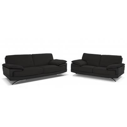 Canap S 3 2 Places Cuir Luxe Italien Emotion Achat Vente Canap Sofa Divan Cadeaux