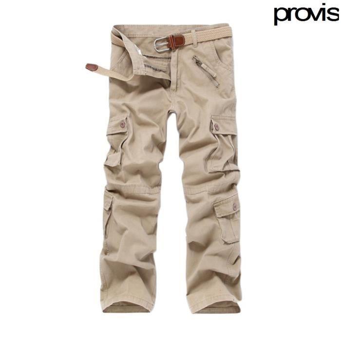 homme pantalon cargo pants militaire camouflage kaki achat vente pantalon cdiscount. Black Bedroom Furniture Sets. Home Design Ideas