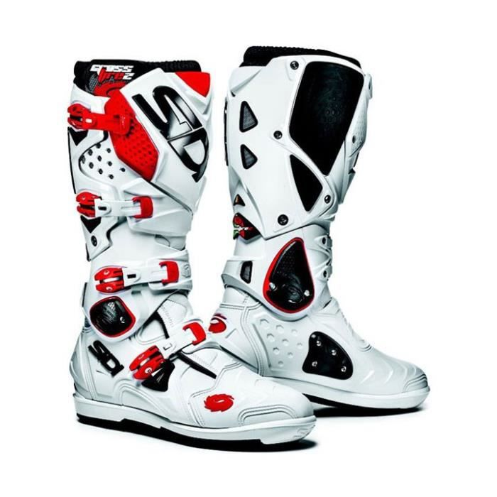 bottes motocross sidi crossfire 2 srs blanc rouge achat vente chaussure botte bottes. Black Bedroom Furniture Sets. Home Design Ideas