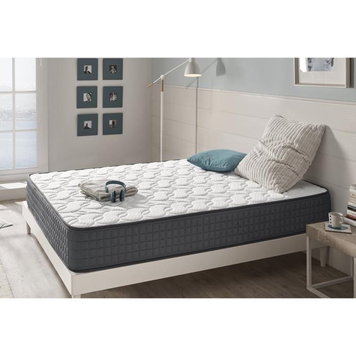 matelas m moire de forme anti stress visco graphene 140x190 cm en blue latex 25 cm de naturalex. Black Bedroom Furniture Sets. Home Design Ideas