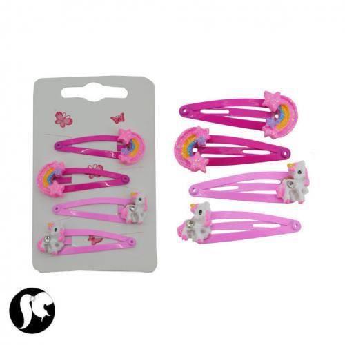 Sg paris accessoires cheveux clic clac m tal rose cheval for Clic clac paris