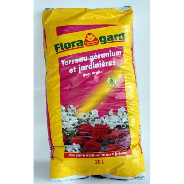 terreau g raniums et jardini res avecargile floragard 20 litres achat vente engrais terreau. Black Bedroom Furniture Sets. Home Design Ideas