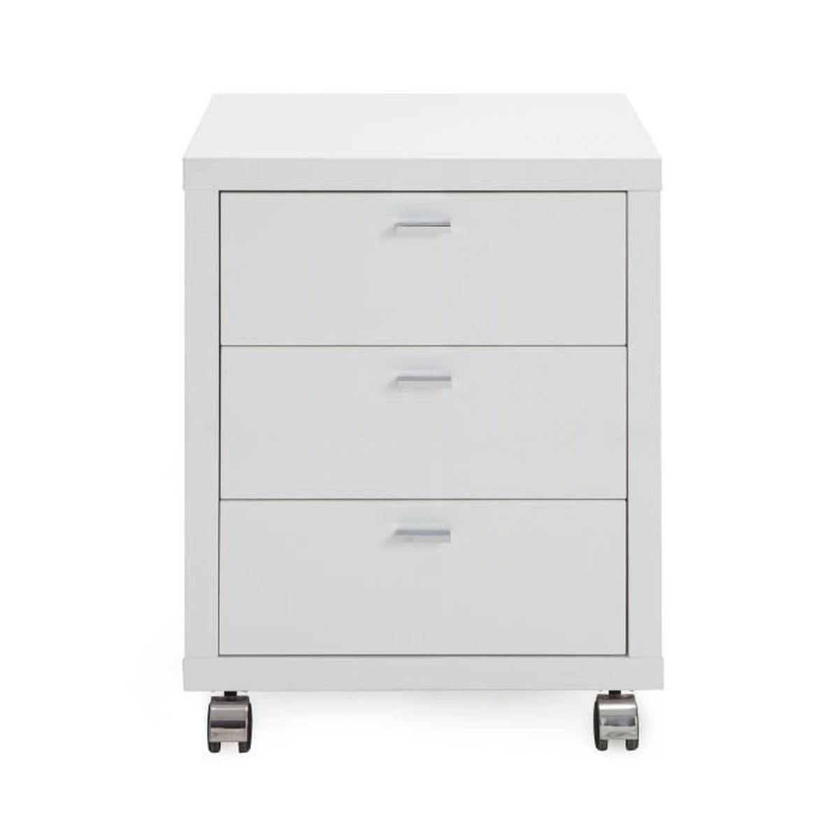 oslo caisson roulettes 3 tiroirs h62m blanc achat. Black Bedroom Furniture Sets. Home Design Ideas