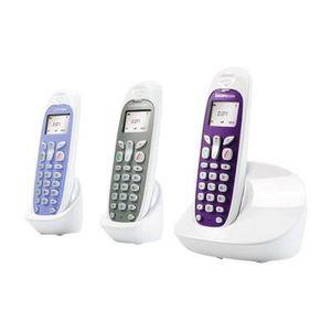Sagemcom D271 Trio Téléphone Sans Fil non ISDN Sans Répondeur Blanc