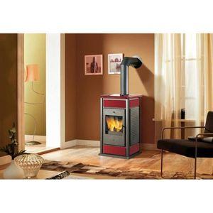 poele a bois rouge achat vente poele a bois rouge pas cher soldes cdiscount. Black Bedroom Furniture Sets. Home Design Ideas