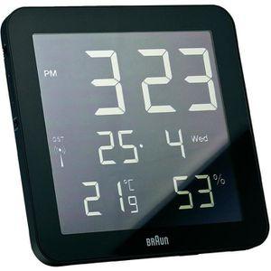 horloge noir achat vente horloge noir pas cher cdiscount. Black Bedroom Furniture Sets. Home Design Ideas