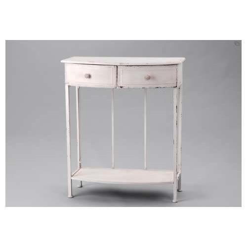 Meuble console m tal blanc amadeus achat vente console meuble console m t - Console meuble blanc ...