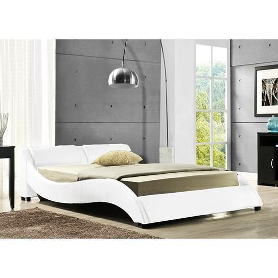 lit design tendance 140 achat vente lit complet lit design tendance 140 cdiscount. Black Bedroom Furniture Sets. Home Design Ideas