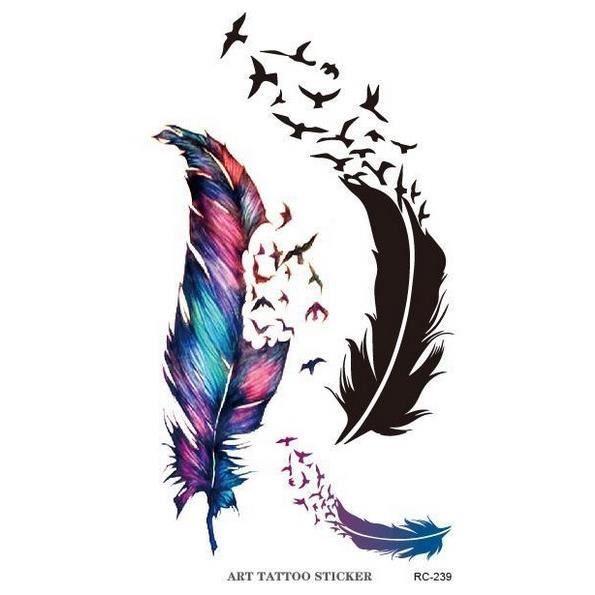 Pics Photos Motif Tatouage Plume Oiseau Qui S Envole