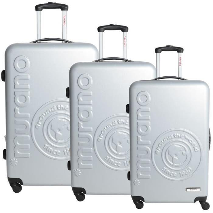 set de 3 valises murano gris clair gris achat vente set de valises 3662796032275 cdiscount. Black Bedroom Furniture Sets. Home Design Ideas