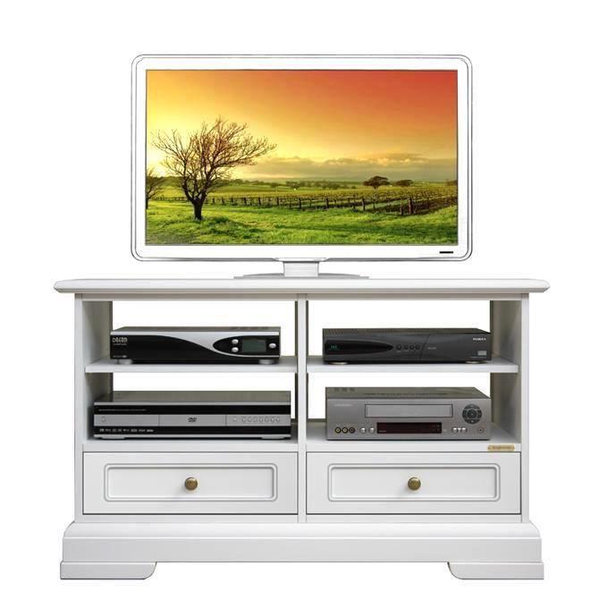 meuble tv bas classique 2 tiroirs achat vente meuble tv meuble tv bas 2 tiroirs cdiscount. Black Bedroom Furniture Sets. Home Design Ideas