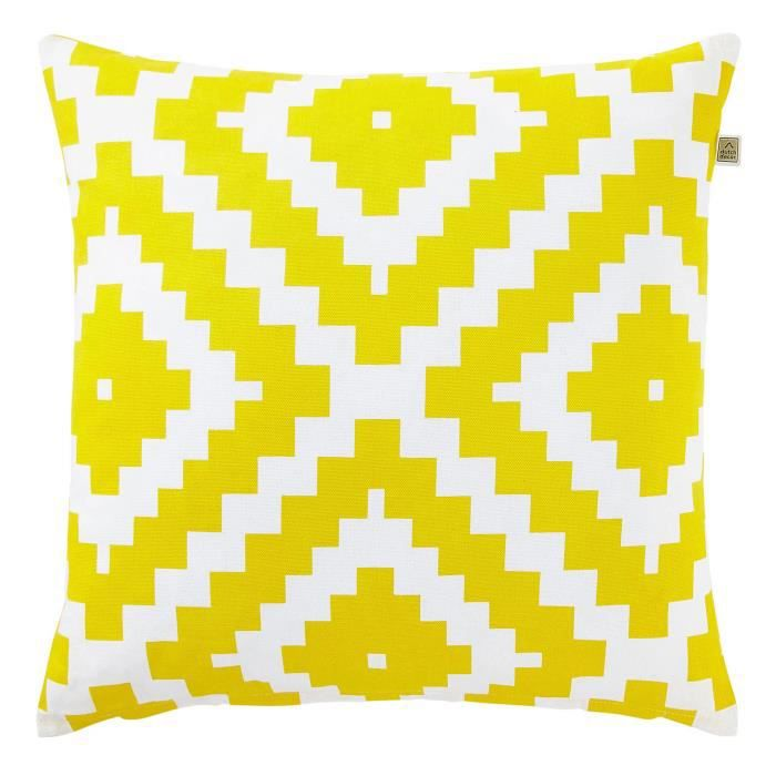 housse de coussin serpentine 45x45 cm jaune achat. Black Bedroom Furniture Sets. Home Design Ideas