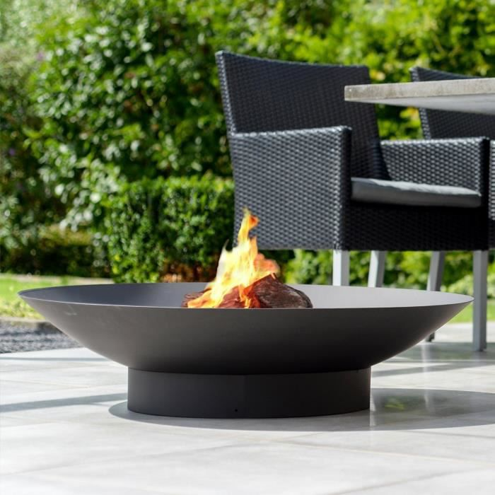 foyer d 39 ext rieur foyer 90 chemin e en acier avec finition r sistant la chaleur noir. Black Bedroom Furniture Sets. Home Design Ideas
