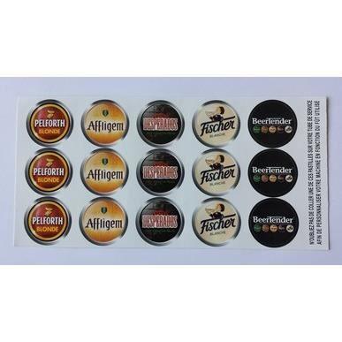 Planche de 15 stickers autocollants pour beertender - Machine pour faire des autocollants ...