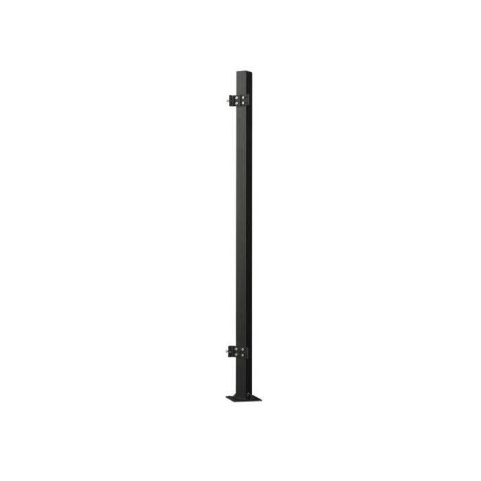 poteau pour cran de paravent r tractable napa noir. Black Bedroom Furniture Sets. Home Design Ideas