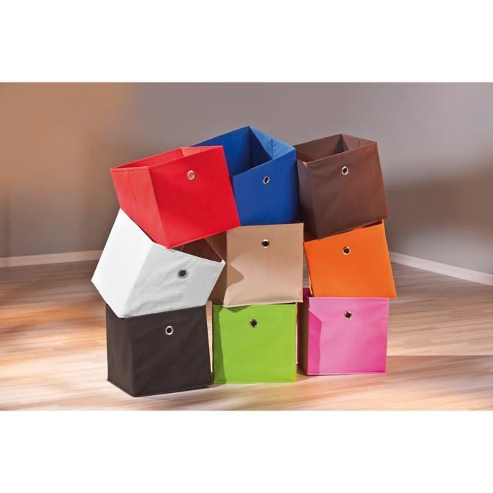 boite de rangement cube pliable casier jouets achat vente boite de rangement tissu. Black Bedroom Furniture Sets. Home Design Ideas