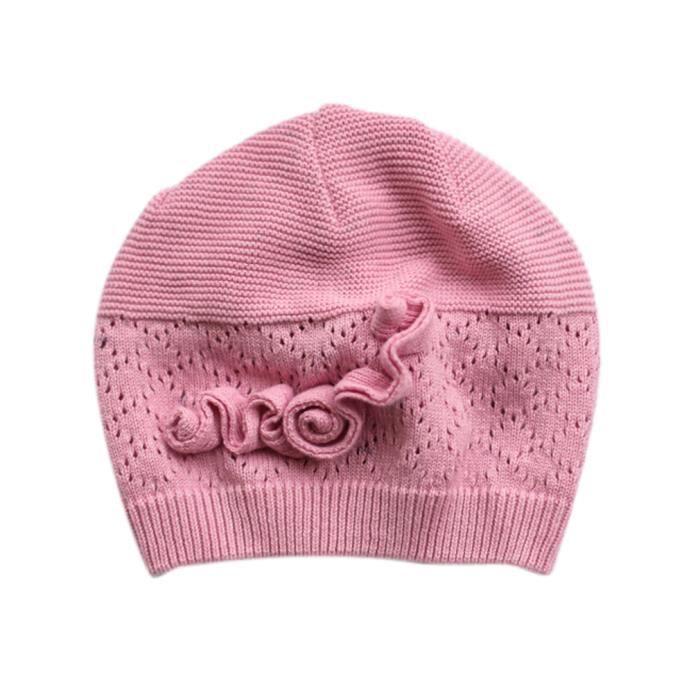 bonnet chapeau enfant b b fille crochet tricot rose rose achat vente bonnet cagoule. Black Bedroom Furniture Sets. Home Design Ideas
