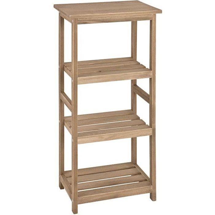 etag re en bois massif ch ne clair dim 38 x achat. Black Bedroom Furniture Sets. Home Design Ideas