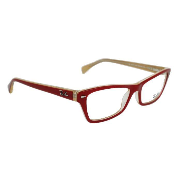 lunettes de vue ray ban rx 5256 rouge rouge achat vente lunettes de vue ray ban rx 5256. Black Bedroom Furniture Sets. Home Design Ideas