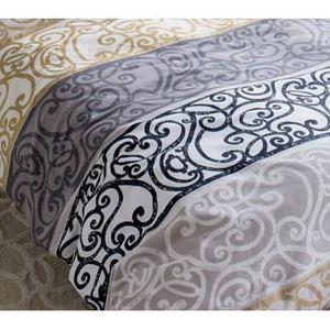 drap plat noir achat vente drap plat noir pas cher. Black Bedroom Furniture Sets. Home Design Ideas