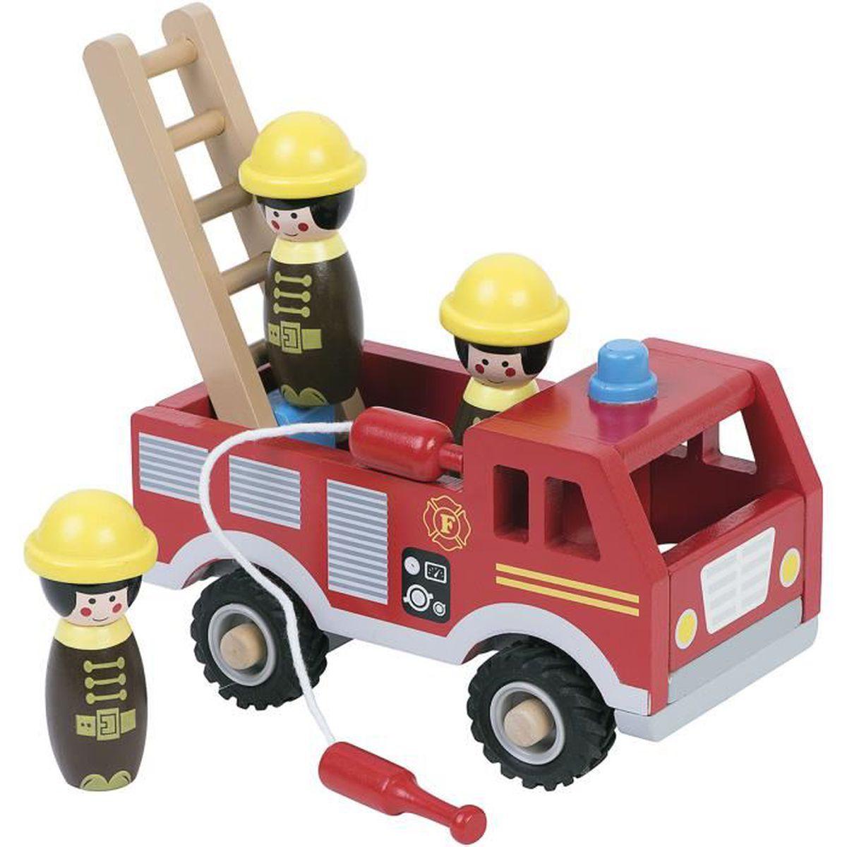 Camion pompier bois achat vente camion enfant cdiscount - Vente camion pompier ...