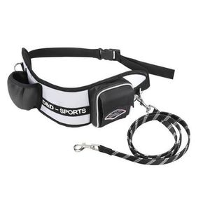 D&D Sports Active Walker Ceinture-laisse pour jogging SM - 110cm - Blanc - Pour petit chien