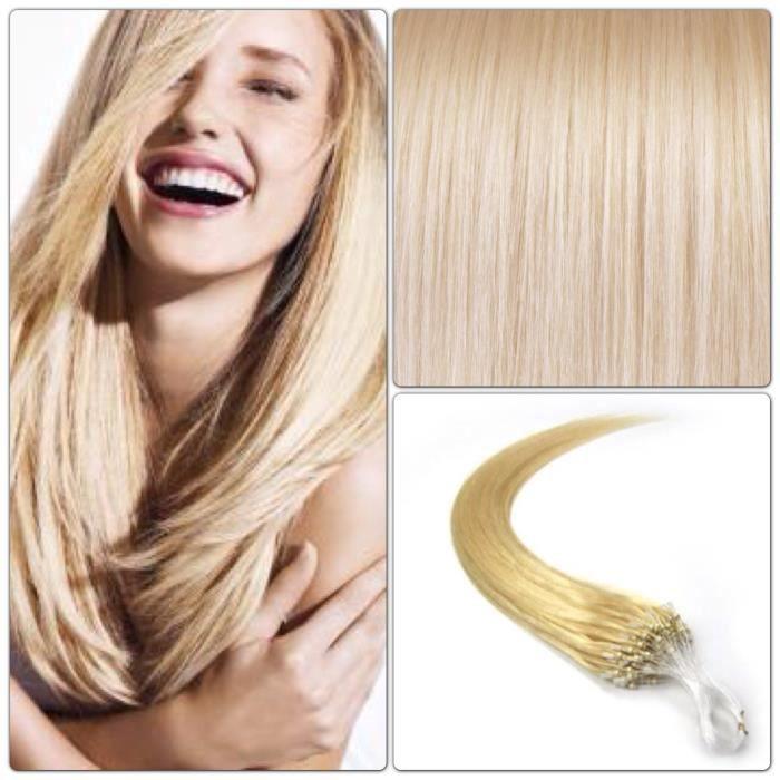 100 extensions de cheveux pose a froid blond 613 achat vente perruque postiche 100. Black Bedroom Furniture Sets. Home Design Ideas