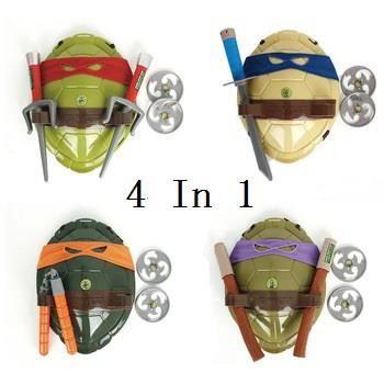 4pcs Lot Tmnt Tortues Ninja Tmnt Armes Jouets Tortues Armure Bouclier Toy Film Pour Enfants