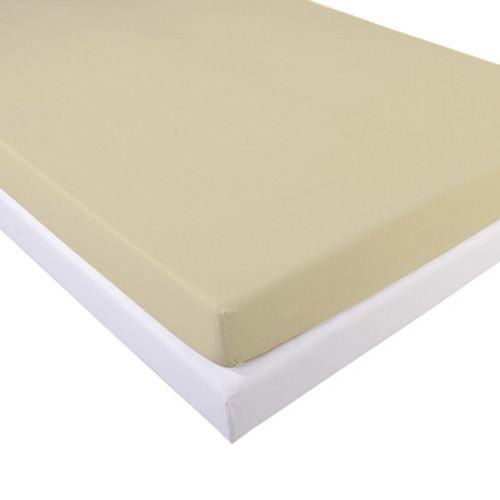 drap housse jersey extensible naturel 160x200cm achat vente drap housse j. Black Bedroom Furniture Sets. Home Design Ideas