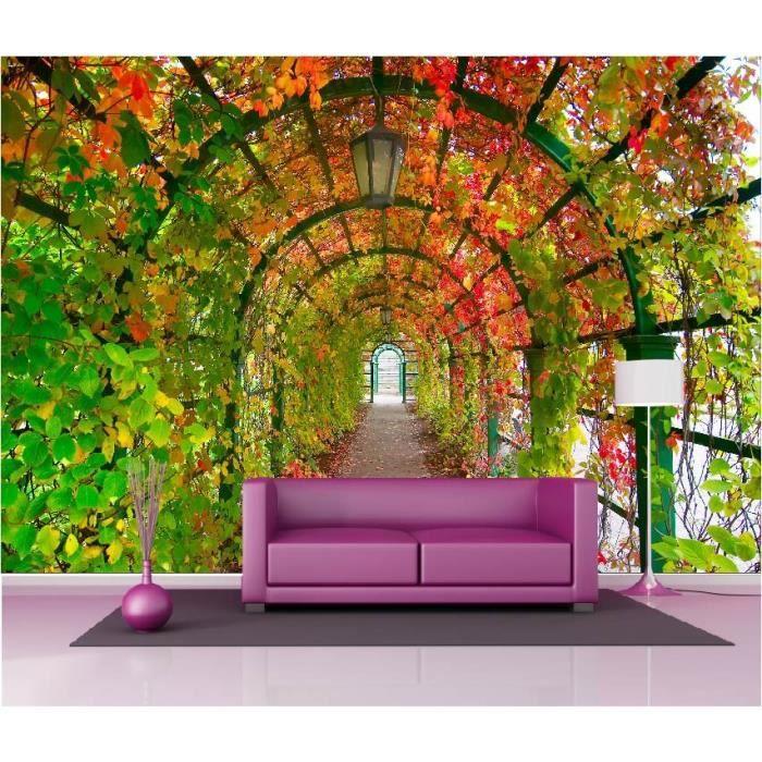 stickers muraux g ant d co tonnelle d automne dimensions. Black Bedroom Furniture Sets. Home Design Ideas