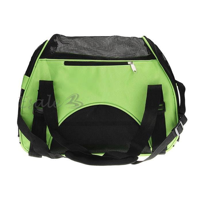 sac de transport sacoche en toile vert pour animaux chien chat s voyage achat vente panier. Black Bedroom Furniture Sets. Home Design Ideas