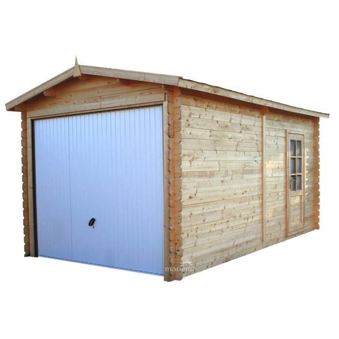 Garage en bois hudson m2 en 28mm porte m achat vente garage gar - Garage bois discount ...