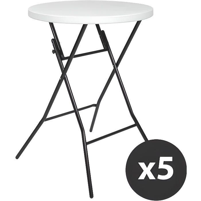 Table haute mange debout lot de 5 achat vente mange - Achat table mange debout ...