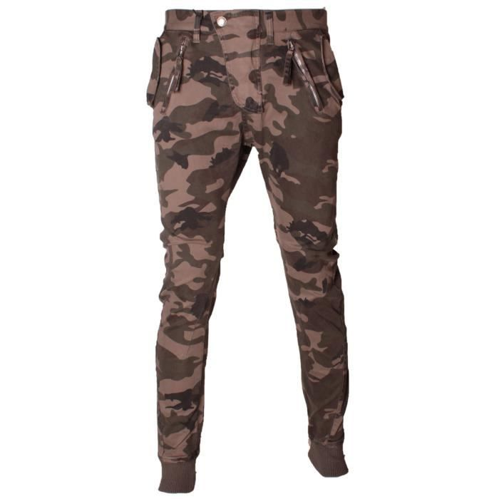 Pantalon militaire homme sarouel coupe slim camouflage vert kaki achat vente pantalon - Coupe militaire reglementaire ...