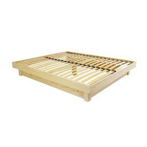Structure de lit 140x190 en bois massif achat vente structure de lit 140x - Lit bois massif pas cher ...