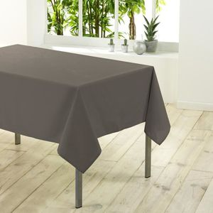 Nappe taupe achat vente nappe taupe pas cher cdiscount for Nappe de table rectangulaire