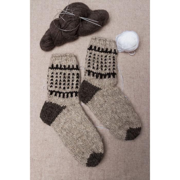 chaussettes en laine pour homme faites main gris achat vente chaussettes 2009918838277. Black Bedroom Furniture Sets. Home Design Ideas