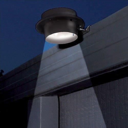 Lampe solaire 3 led pour jardin noir achat vente for Lampe solaire pour portail