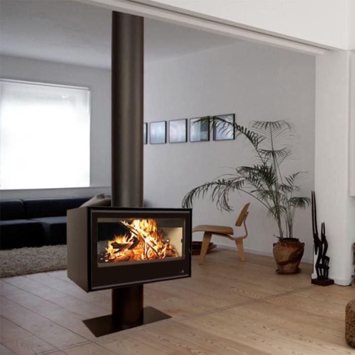 poele a bois sl 290 2 faces poele avec cache tuyau achat vente po le insert foyer poele. Black Bedroom Furniture Sets. Home Design Ideas