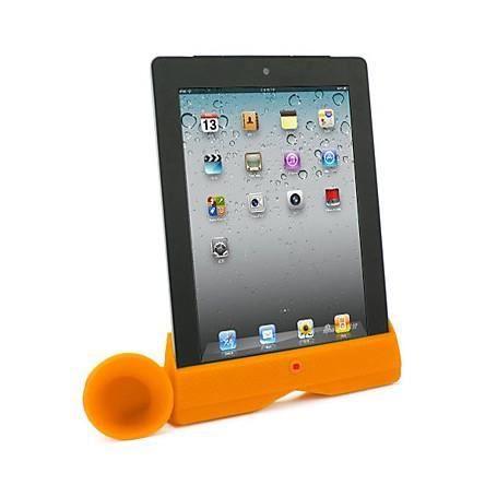 amplificateur de son pour ipad 2 et 3 orange. Black Bedroom Furniture Sets. Home Design Ideas